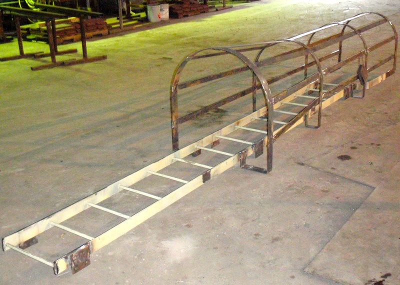 Fabricated Custom Steel Safety Cage Ladder