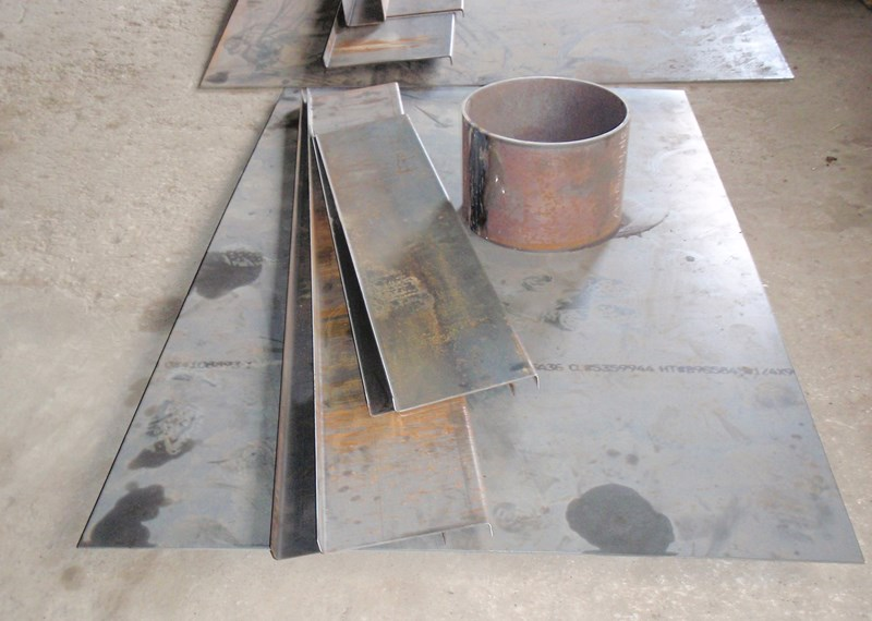 Rolled Cylinders Press brake pieces Sheared Steel