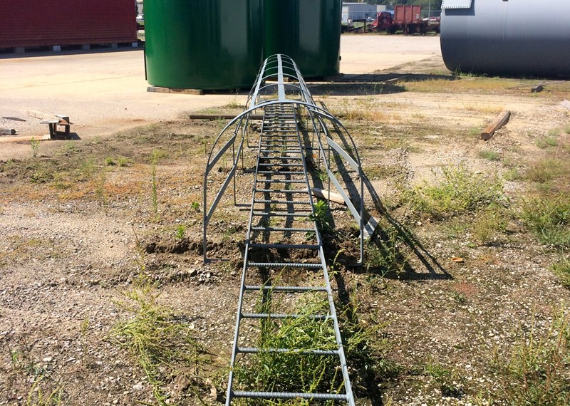 Safety Caged Ladder 25'
