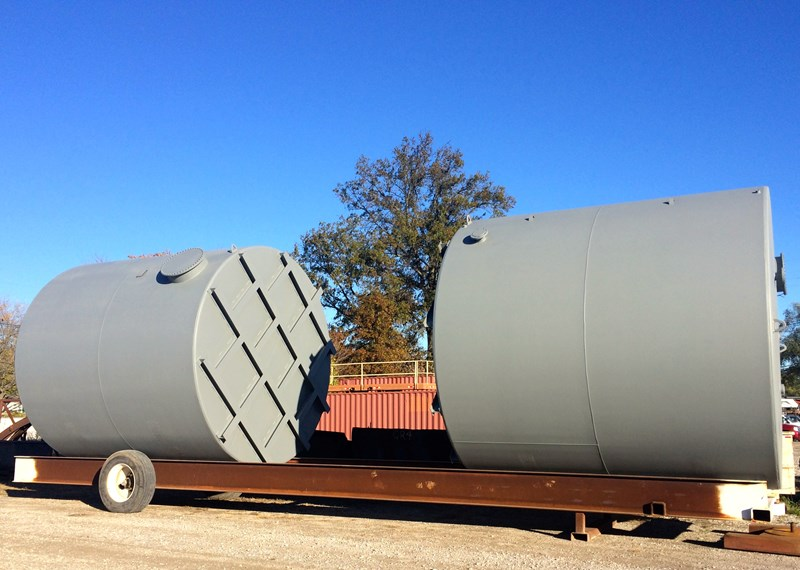 Bulk Storage Tank 12'x12' Skid Raised Bottom