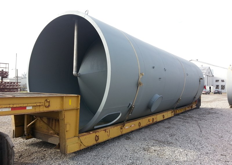 Skirted 45 Degree Cone Bottom Storage Tank 12'x38'