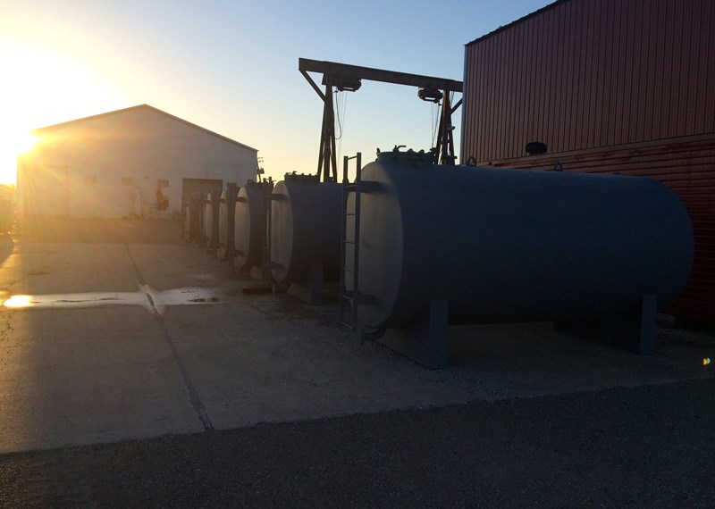 Steel Horizontal Liquid Storage Tanks
