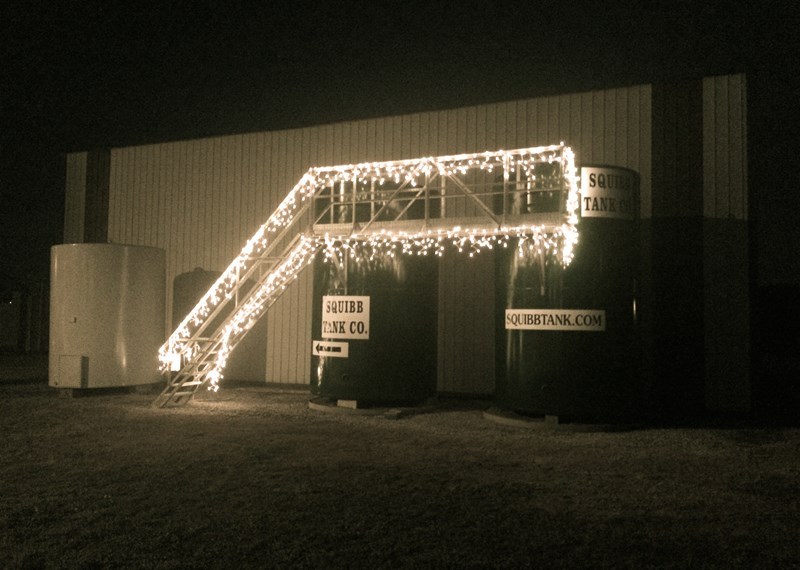 115BBL Steel Tank Christmas Lights