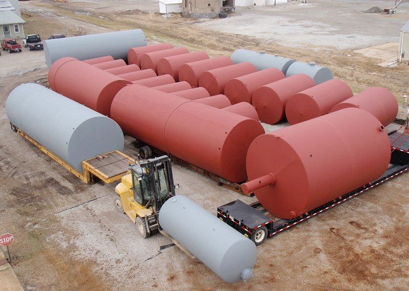 Various Stock Tanks 90BBL 100BBL 210BBL Gun Barrel Fertizer Tanks 12'x35'